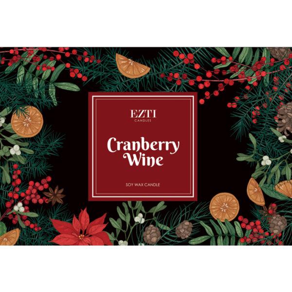 Cranberry Wine Ezti Candles wosk zapachowy