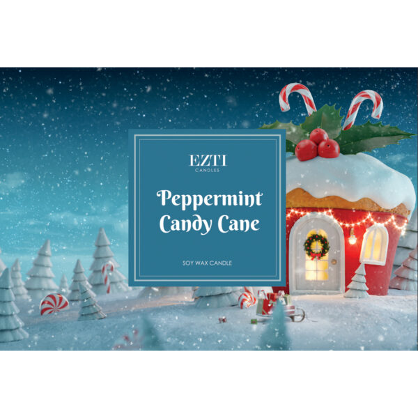 Peppermint Candy Cane Ezti Candles wosk zapachowy