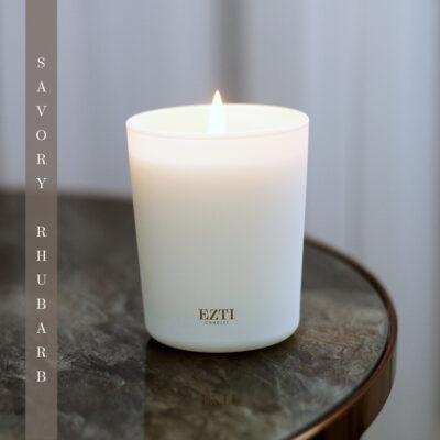 Świeca sojowa SAVORY RHUBARB ezti candles